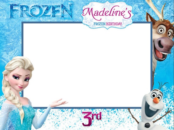 Frozen Frame Sticker Frozen Photo booth Frame Sticker