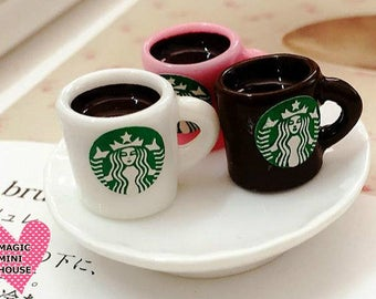 Dolls House Miniature Starbucks Coffee Mug-1pc