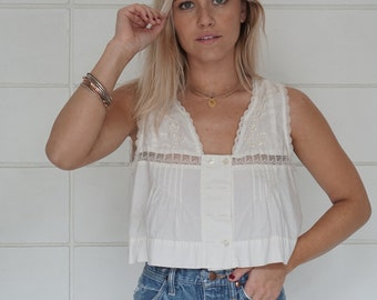 Vintage Urban Outfitters cropped boho blouse