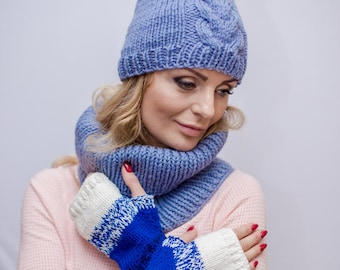 Womens arm warmers Wrist warmers wool Hand warmers fingerless gloves Coworker gift anniversary gifts Cozy gloves Warm accessories knit