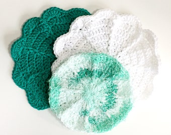 Jade and Pearl Eco-Friendly Dishcloth & Pot Scrubbie Set