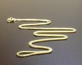 14K Yellow Gold Wheat Chain - 14K Gold Wheat Necklace - 14K Gold Chain - 14K Gold Necklace - 14K Wheat Necklace - Yellow Gold Chain