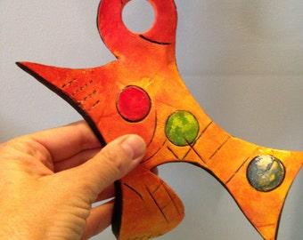abstract clay art, ceramic sculpture, ceramic wall art, small sculpture, clay tiles, abstract art