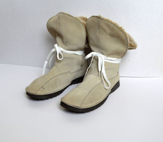UK Eu Vintage 5 snow Leather hipster boots boots Cream VAGABOND Boots winter leather Suede 8 US 39 White women 6 Size fq6xfar