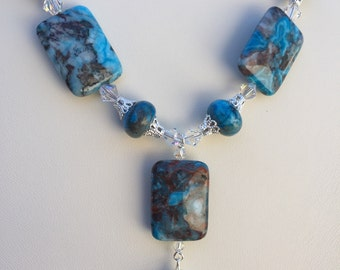 Blue Crazy Lace Agate necklace