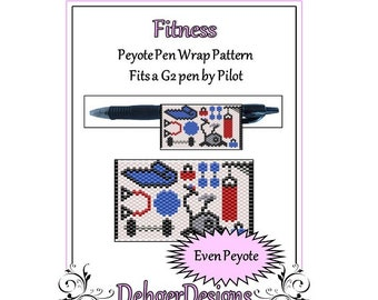 Peyote Beading Pattern (Pen Wrap/Cover)-Fitness