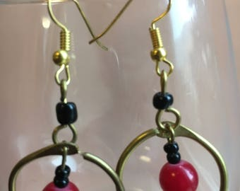 Classy Burgundy Earrings