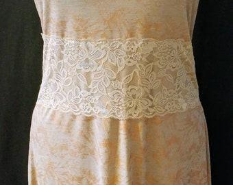 Boho Strapless Dress with Lace / Boho Wedding