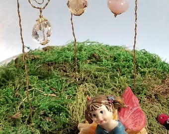 Gold and Glass Mix of Fairy Garden Lanterns - Set of 3 - FRY-007
