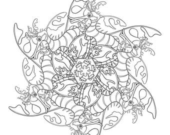 Leafy Sea Dragons Coloring Page