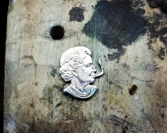 Queen Elizabeth Coin Cutout