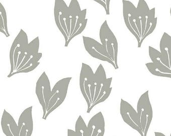 Lemmikki by Lotta Jansdotter for Windham Fabrics - 43088-5 - Light Grey - 1/2 Yard Cotton Quilt Fabric
