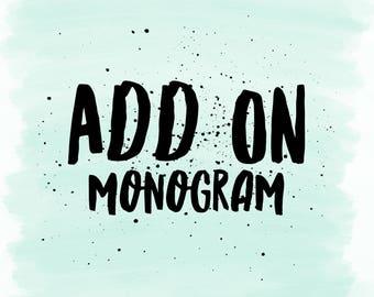 Embroidered Monogram Add on
