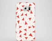 Red Triangles phone case / abstract Samsung Galaxy S7 case / Samsung Galaxy S6 Edge, Samsung Galaxy S6, Samsung Galaxy S9 / illustrated case