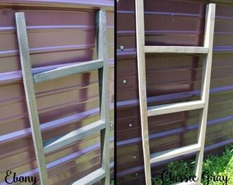3' Rustic Wooden Blanket Ladder, Towel Hanger, Pot Rack, Laundry Rack, Display Ladder