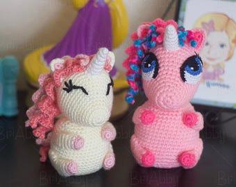 Crochet Pattern - Unicorn Pudgy Pals Amigurumi Toy Pattern (PDF FILE)