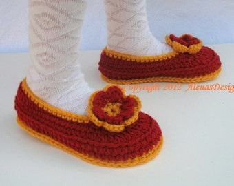 Crochet Pattern 068 - Crochet Slipper Pattern for Childrens Slippers Amy Boots Pattern Slippers Shoes Girl Boy Children Toddler Youth Size