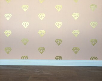 Diamond Wall Decals - Removable vinyl wall decals/stickers & Star Wall Decals Removable vinyl wall decals/stickers