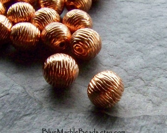 Spacer Bead, Copper Bead, Vintage Beads, Etched Bead, Carved Bead, Lucite Bead, Metalized Bead, Boho Bead, Textured Bead, Tribal Bead, 20