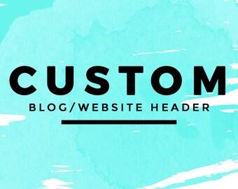 Custom Blog Header | Wordpress Blog Logo Design | Fashion Blog Logo | Beauty Blog Header | Blogger Custom Blog Design | Colorful Blog Design