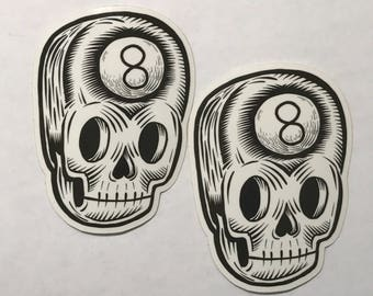 Behind the Eight Ball - vinyl sticker by Kevin Kosmicki