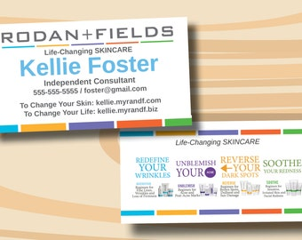 Rodan fields business cards digital file only two sided rodan fields business cards product backside digital file only colourmoves
