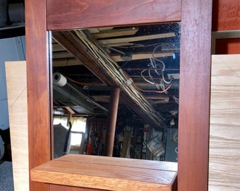 Entry mirror with hooks, entry mirror keys, mirror, wood mirror