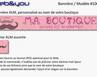 Custom banner, avatar and shop 'Moustache'
