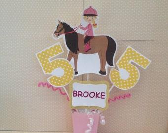 Horseback Riding, Equestrian Party Centerpiece Decoration