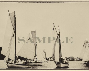 Vintage Sailing Print.