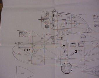 Fairchild Amphibian Model Airplane Plans 42 Inch Wing Span