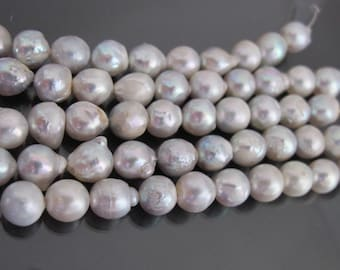10pcs Japanese cultured baroque Akoya pearls 8.5mm