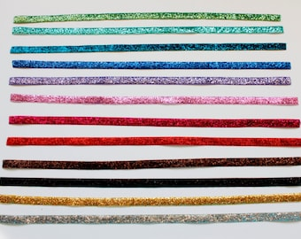 One Non Slip Glitter Headband--Choose Your Own Color