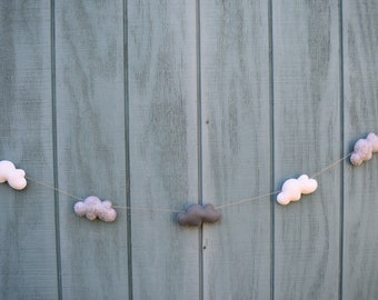 Gray and White Cloud Garland