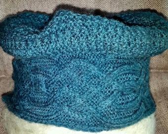 Einstein Hat Knitting Pattern for Slouchy Beret or Tam