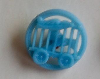Blue Plastic Circus Set