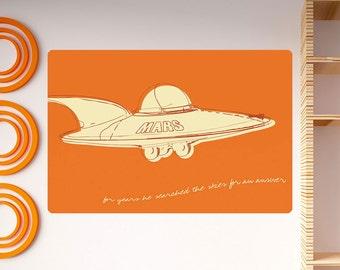 Mars Flying Saucer Lunastrella Wall Decal - #64315