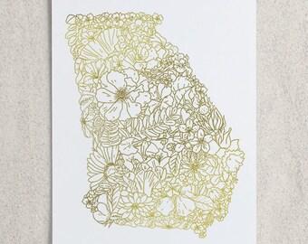 Botanical Georgia Foil Print