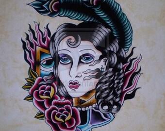 Julietta Original Tattoo Painting