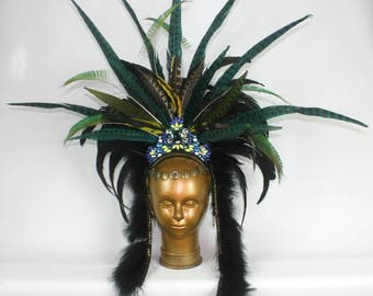 Aztec Queen Feather Headpiece by Shapeshifters