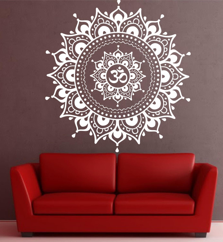 Mandala Wall Decal Yoga Om Namaste Decor