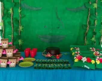 """DIY Moana """"Returns the heart of Te Fiti"""" Moana Birthday Party Decoration"""