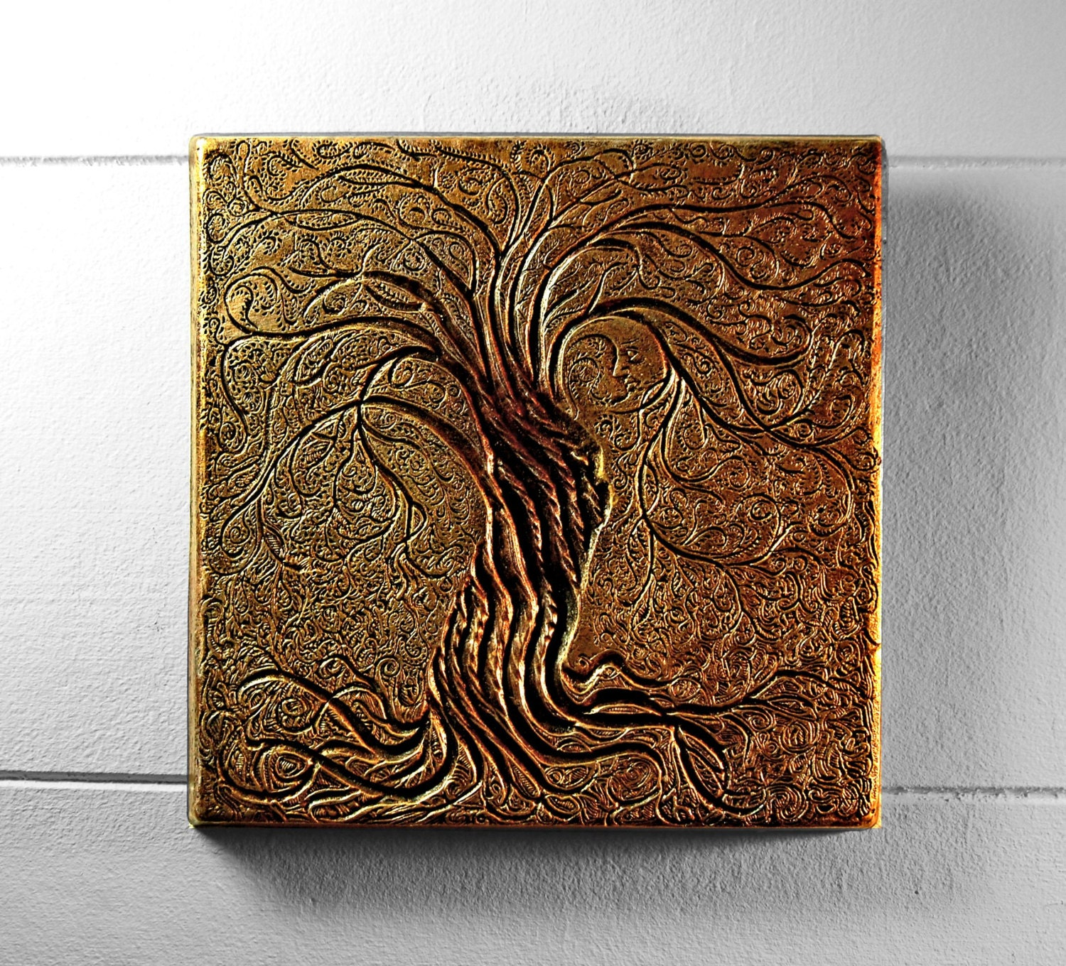 Tree of Life Outdoor Wall Art Sculpture Rustic Gift Copper