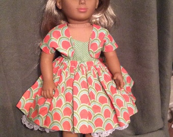 "Sweet Dress and Jacket for American Girl and Other 18"" Dolls"