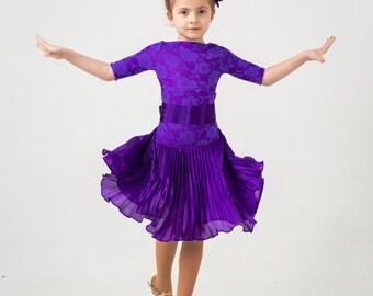 Juvenal (basic) dress for ballroom dancing PURPLE RAIN