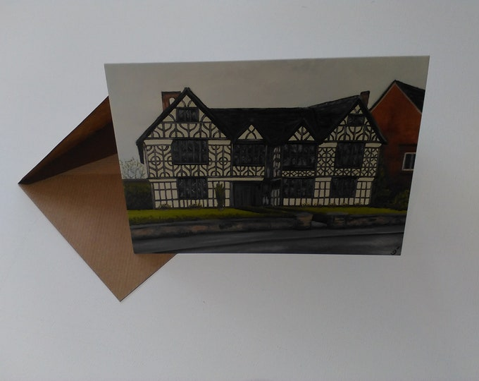Churche's Mansion - Greeting Card with Envelope in Cellophane Wrapping