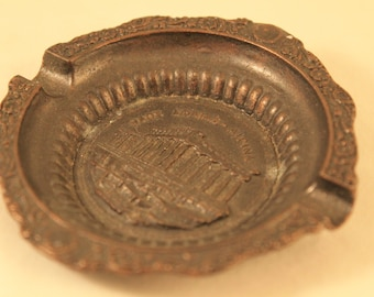 Vintage Bronze Ashtray From Greece Cigarettes Tobacco Smoker Collectible Gift