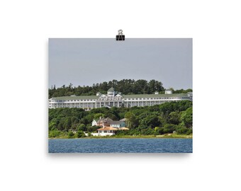 Mackinac Island Grand Hotel Poster on Photo Paper Wall Art