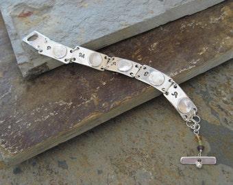 Sterling Silver Bracelet, Silver Fingerprint Bracelet, Fingerprint Bracelet, Multiple Fingerprints, Personalized Bracelet, Memorial Bracelet