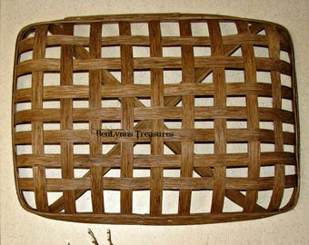 Rectangular Tobacco Basket, Oblong Wall Basket for Mother's Day Gift, Decorative Basket for Wedding Gift, for Rustic Decor, Farmhouse Decor